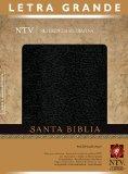 Santa Biblia: Nueva Traduccion Viviente, piel fabricada/ negro, letra grande, referencia ultrafina